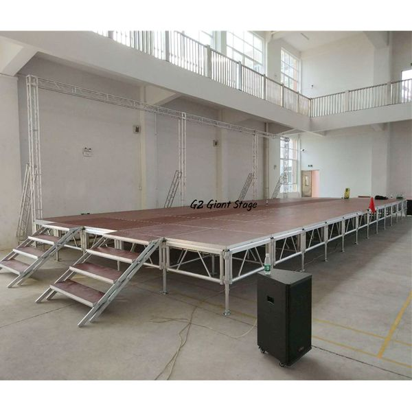 Easy-assembled aluminum truss stage for events and concerts