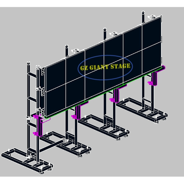 Truss Video Wall LCD Monitor LED Screen Ground Support Stand On Sale