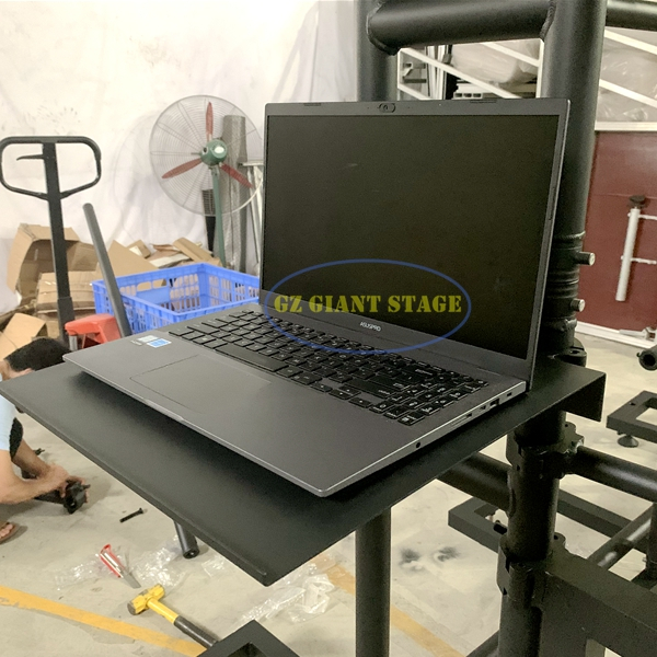 Black Truss Plate clamp for computer laptop